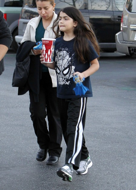 Exclusive... Michael Jackson's Kids Catching A Movie In Calabasas