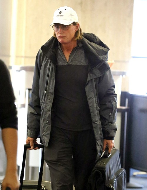 Exclusive... Bruce Jenner Arriving On A Flight At LAX