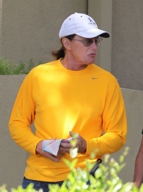 Bruce Jenner Heads To Church On Mother's Day