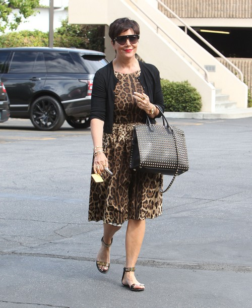 Kris Jenner Heads To The Office