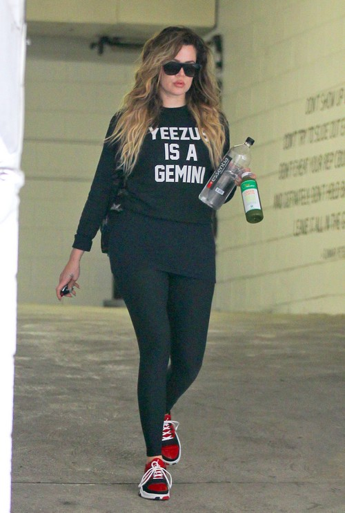Khloe Kardashian Goes For A Morning Workout