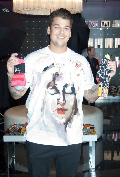 Rob Kardashian Makes An Appearance At Kardashian Khaos