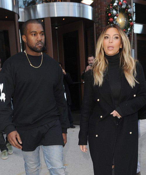Kim Kardashian & Kanye West Leaving A Radio Station In NYC