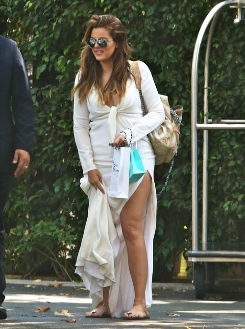 Kim, Khloe, & Kourtney Kardashian Attend Abbey Wilson's Baby Shower