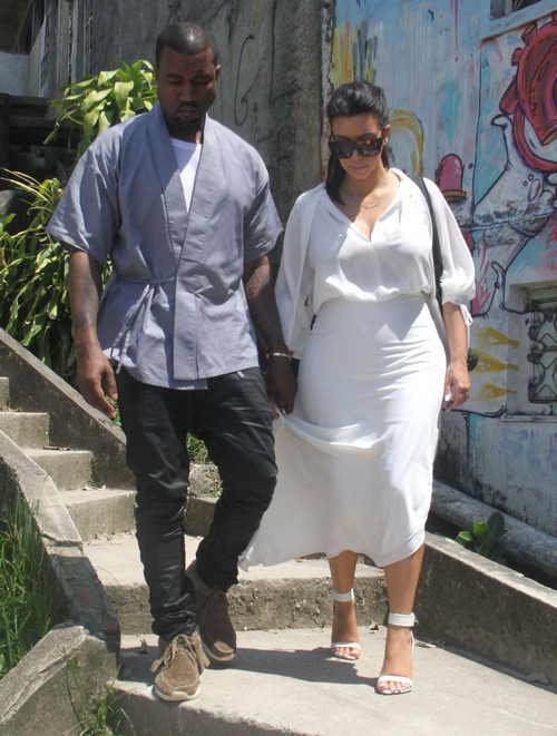 Kim &amp; Kanye Continue Their Shantytown Tours With Will Smith