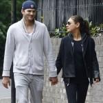 Mila Kunis And Ashton Kutcher Leaving Los Angeles For London