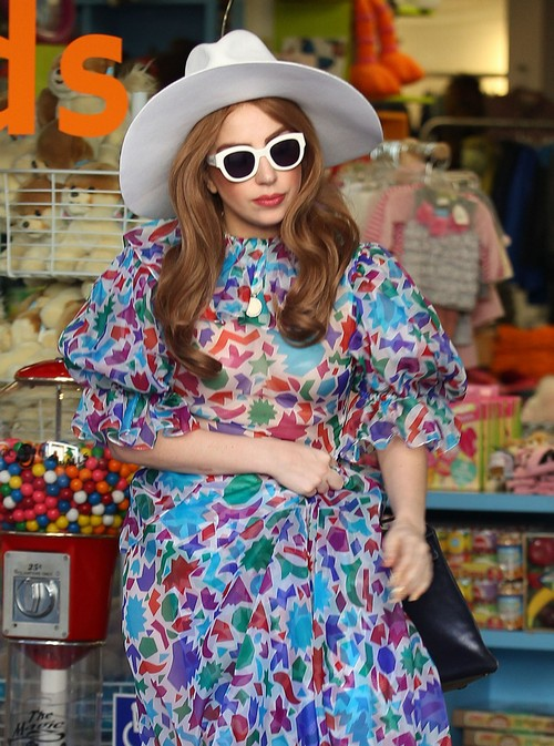 Lady GaGa Shops At Kitson Kids
