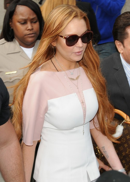 Lindsay Lohan Leaving The Court House In Los Angeles