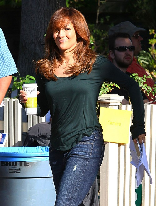 Semi-Exclusive... Jennifer Lopez Filming A Commercial In Hollywood