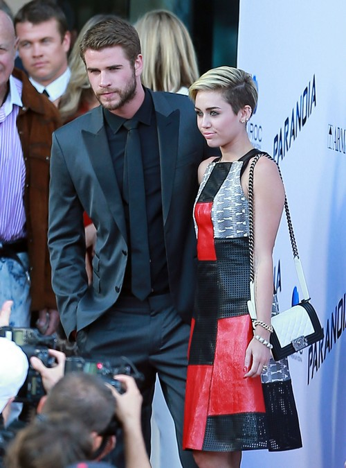 Miley Cyrus And Liam Hemsworth Avoided Each Other At Paranoia Premiere – Faking Relationship?