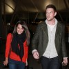 Lea Michele & Cory Monteith Land In New York
