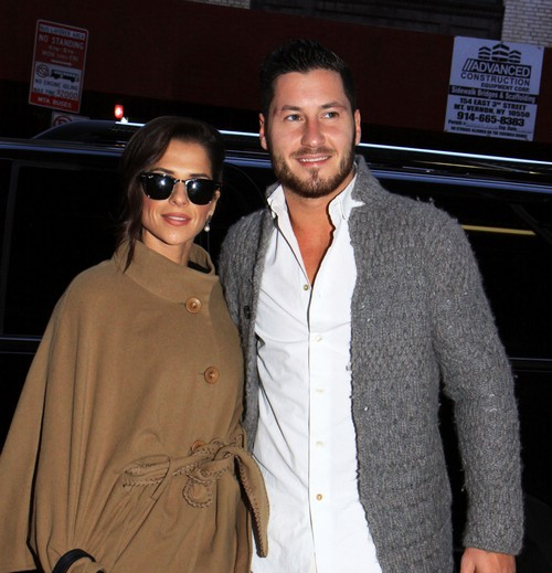 Kelly Monaco & Val Chmerkovskiy Arrive At The Wendy Williams Show