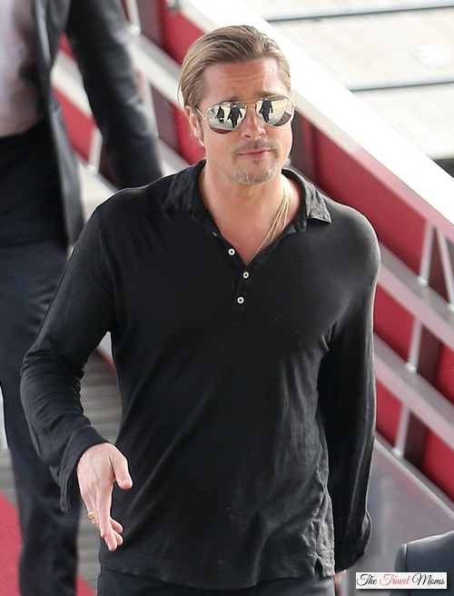 "Brad Pitt Does The ""World War Z"" Promotional Rounds"
