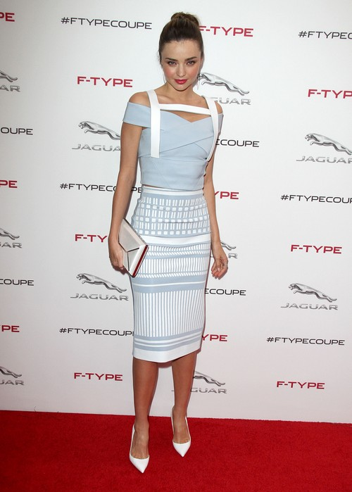 Miranda Kerr at The Jaguar F-TYPE Coupe Global Debut in LA