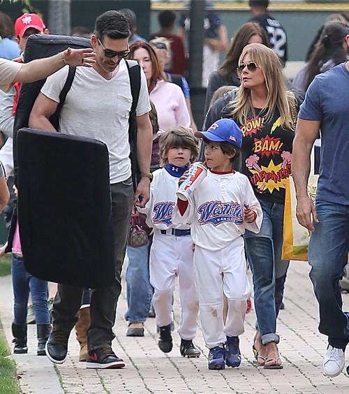 LeAnn & Eddie At His Sons Baseball Game