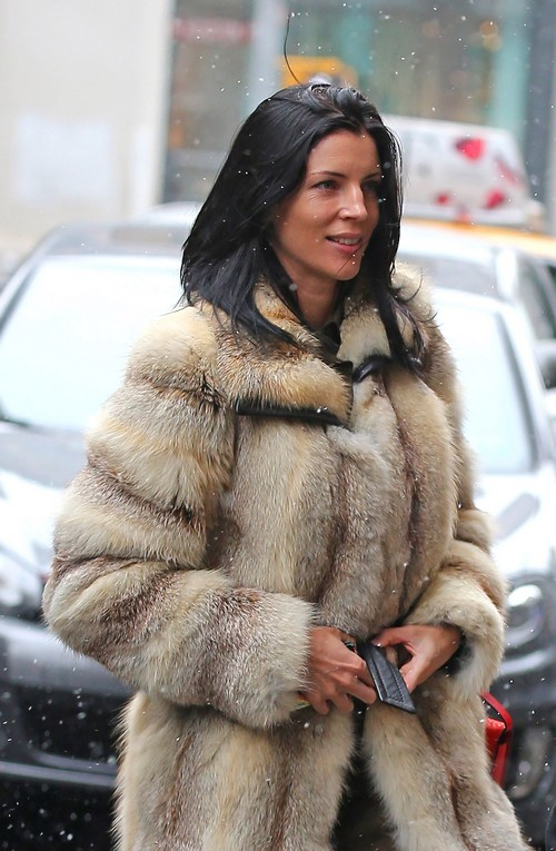 Liberty Ross Arrives At An Office In NYC