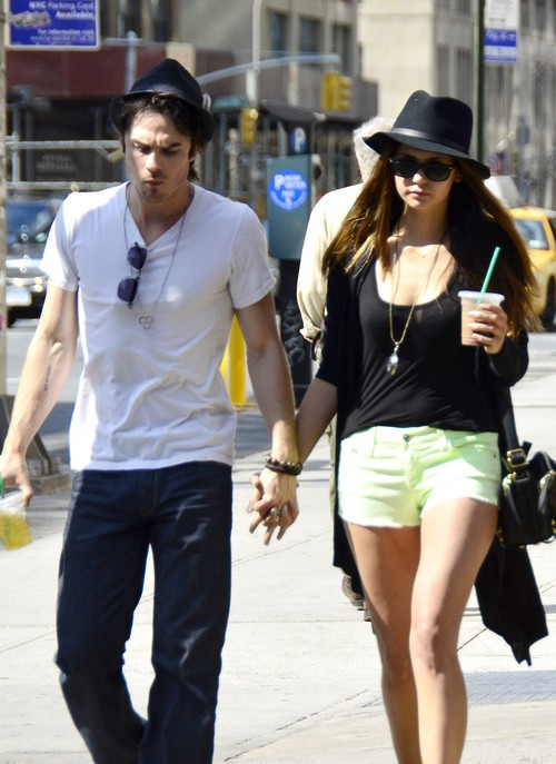 Ian Somerhalder and Nina Dobrev Walk Hand in Hand in NYC