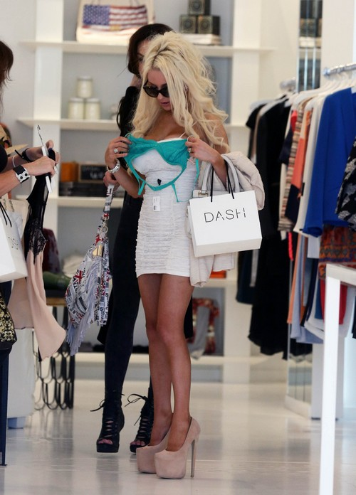 Courtney Stodden Shops At DASH
