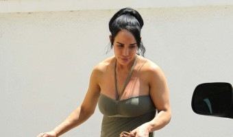Nadya Suleman Gets Stoned in Front of Her Kids
