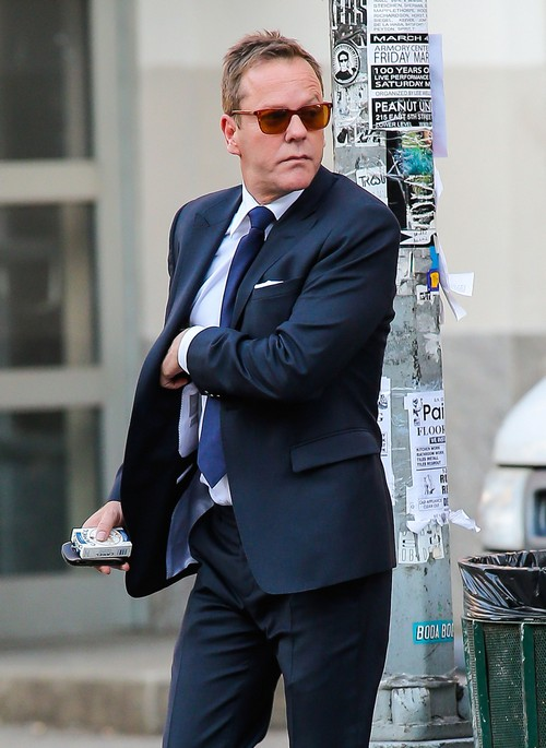 Kiefer Sutherland Out And About In NYC