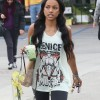 Karrueche Tran Grocery Shopping At Vons