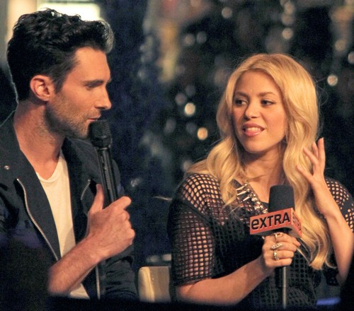 Adam Levine and Shakira Having Hot Sessions Together