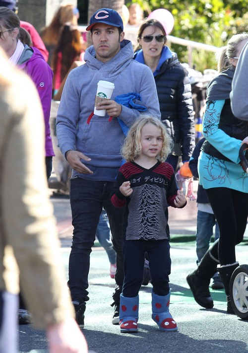 Pete Wentz Takes Bronx To The Farmers Market In Studio City