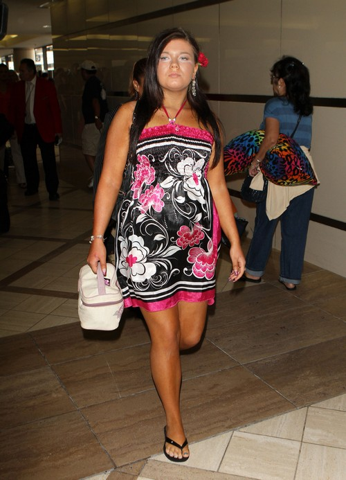 Amber Portwood Arriving At LAX Airport