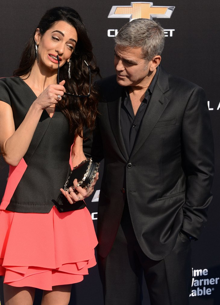 George clooney orce george and his wife amal alamuddin sleeping in