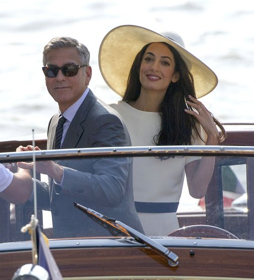 Newlyweds George Clooney & Amal Alamuddin Head Out On Their Honeymoon