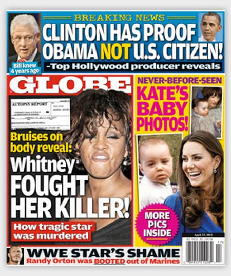 Globe Magazine: Bruises Reveal Whitney Houston Fought Her Killer!