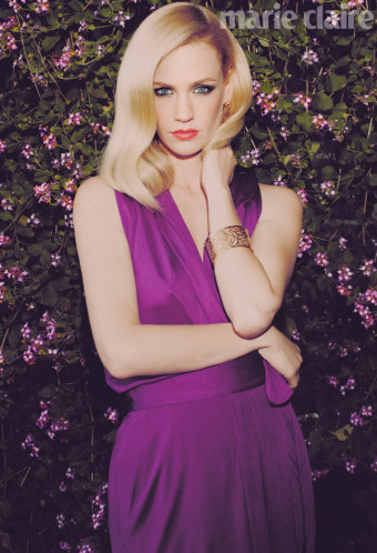 January Jones Smolders For Marie Claire UK – Photos, Video