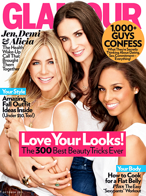 PHOTOS: Jennifer Aniston, Demi Moore, & Alicia Keys Shine For Glamour Mag