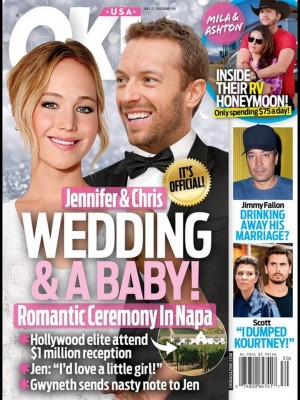 Jennifer Lawrence And Chris Martin Wedding And Baby Plans J-Law Trying To Get Pregnant!