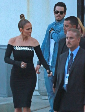 Jennifer Lopez & Casper Smart Leaving The American Idol Studios