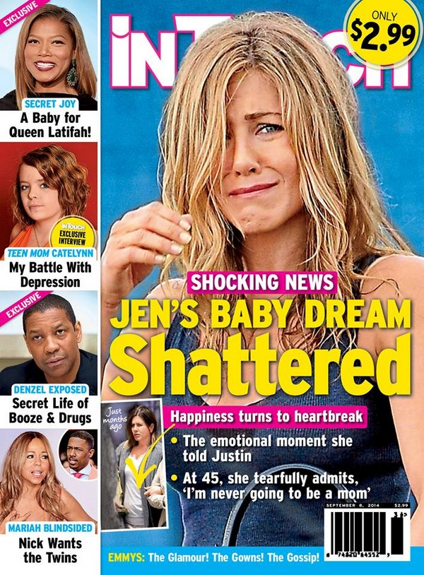 Jennifer Aniston's Life Is Crumbling Due To Fears That She'll Never Be A Mother