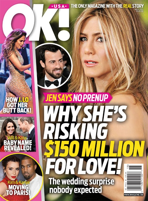 Jennifer Aniston says NO WAY to Prenup &#8211; Mistake Or Good Decision?