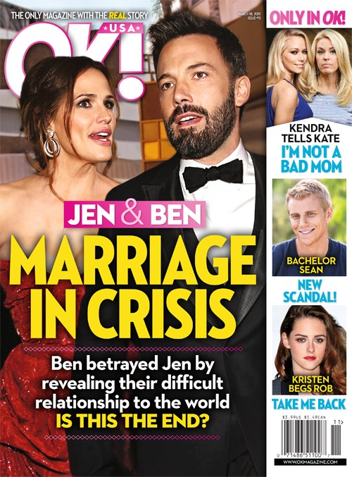Ben Affleck and Jennifer Garner Marriage Is In Crisis