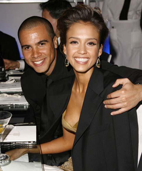 Jessica Alba and Cash Warren at a dinner