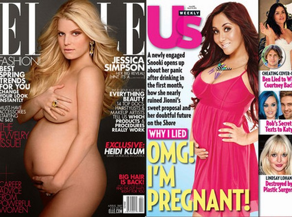 Jessica Simpson Snooki Pregnant