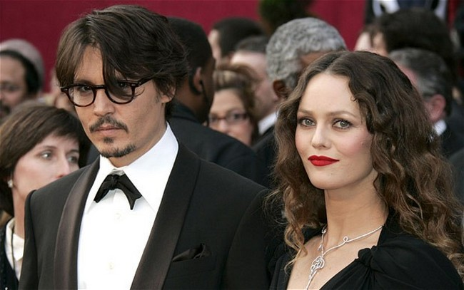 Johnny Depp and Vanessa wife