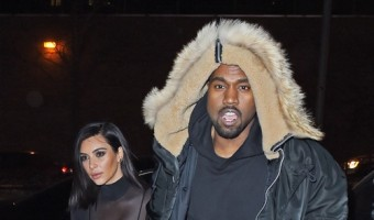 Kim & Kanye Head Out To Celebrate Valentine's Day