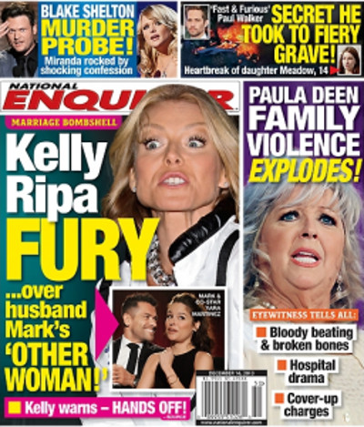 Kelly Ripa Furious Over Husband Mark Consuelos' TV Hookup (PHOTO)