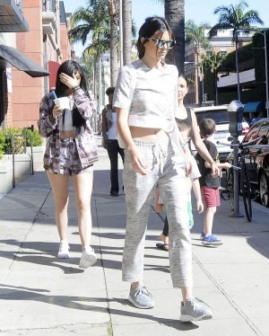 Kylie & Kendall Jenner Stop For Greek Yogurt