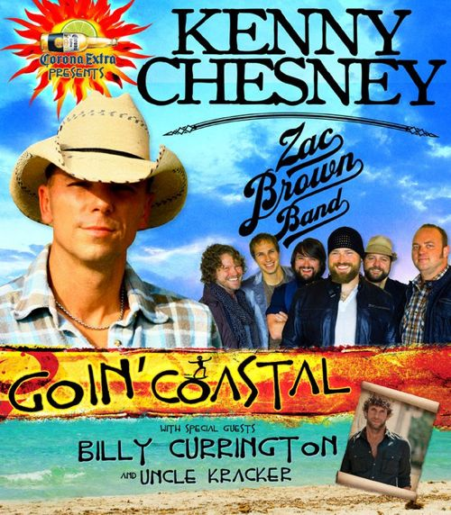 Kenny Chesney and Zac Brown Band Tour Poster