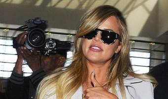 Khloe Kardashian Catches A Flight At LAX
