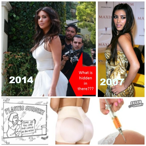 Kim Kardashian Attends Ciara's Baby Shower: What's In her Butt? (PHOTOS)