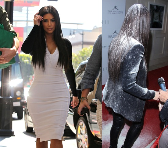 Kim Kardashian Calls Flour Bomb Behavior Violent Bullying (Photo)