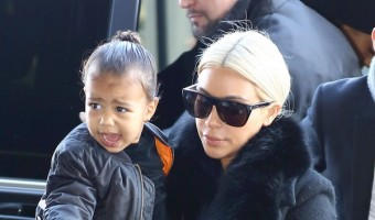 Semi-Exclusive... Kim Kardashian & North Catch A Flight Out Of Paris