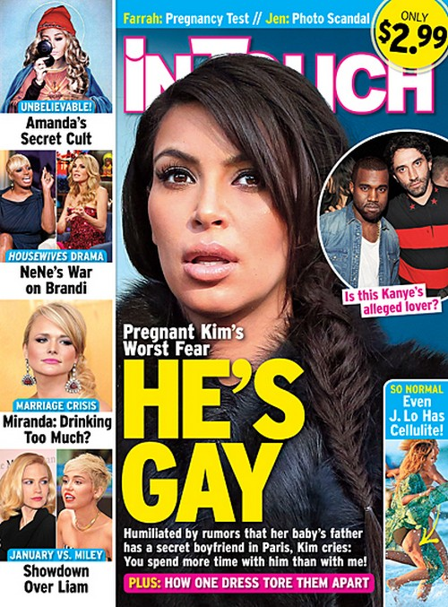 Kim Kardashian Fears Kanye West Is Gay